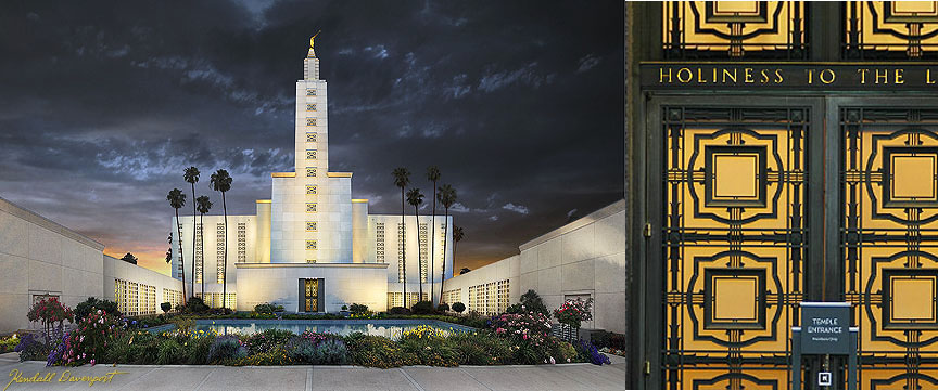 LDS Los Angeles Temple Detail