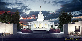 Idaho Falls lds Temple Idaho