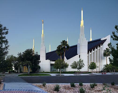 Las Vegas Temple Picture Lds Painting Sunrise