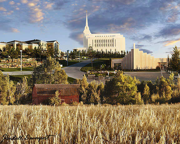 LDS Rexburg Idaho Temple. Acquire. Find a parable full of meaning in this
