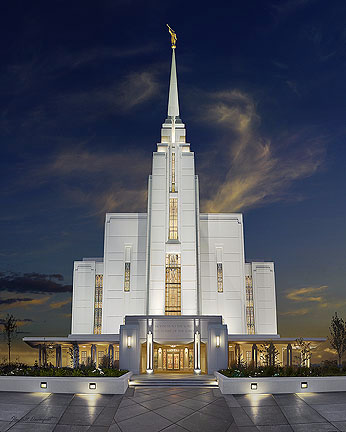 Rexburg Temple Picture Painting