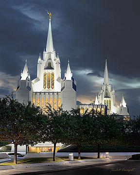 San Diego L.D.S. Temple in California