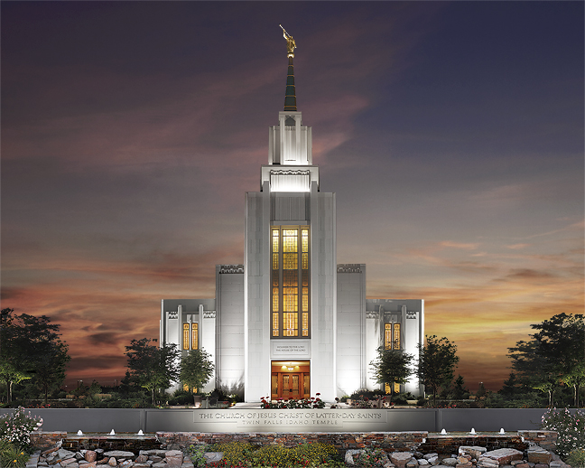 Twin Falls L.D.S. Temple in Idaho
